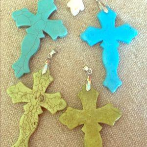 Jewelry - Cross Stone necklace pendants